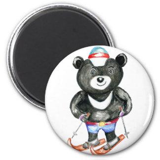 Sporty Black Bear Magnet
