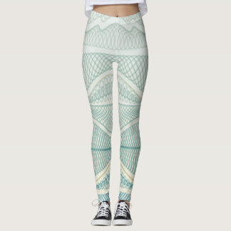 Sporty Blue | Wavy Lines | Stripes & Doodles Yoga Leggings