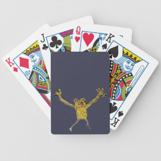 Sporty Frog leaping Bicycle Playing Cards