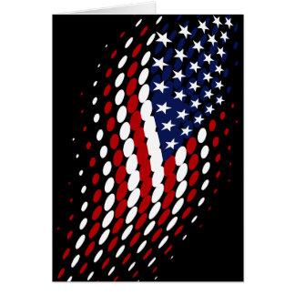 Sporty Halftone USA American Flag Greeting Card