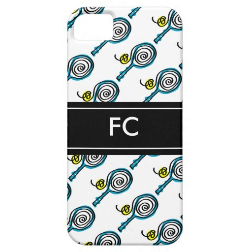 Sporty iPhone case with tennis racket pattern iPhone 5 Cases
