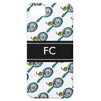 Sporty iPhone case with tennis racket pattern iPhone 5 Covers