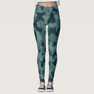 Sporty Look Camouflage Leggings
