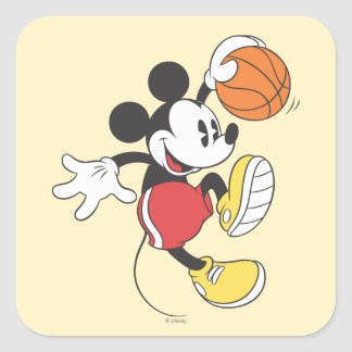 Sporty Mickey | Basketball Player Square Sticker