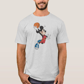 Sporty Mickey | Dunking Basketball T-Shirt