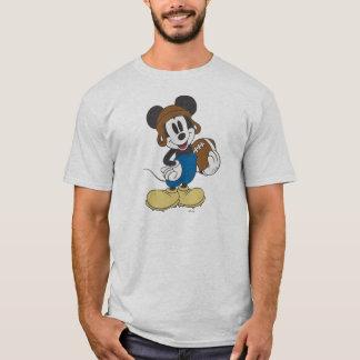 Sporty Mickey | Holding Football T-Shirt