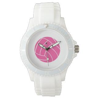 Sporty Pink Volleyball Wrist Watch