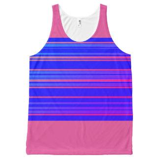 Sporty-Stripes-Blue-Peach(c)-Tank-Top All-Over Print Singlet
