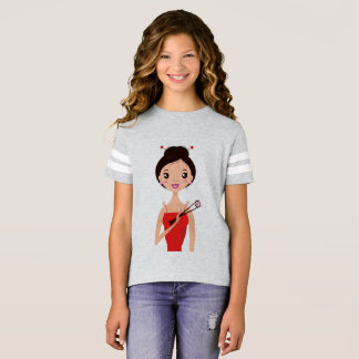 Sporty tshirt with Sushi girl