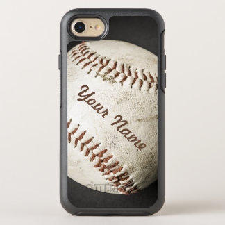 Sporty Vintage Baseball Phone With Your Name OtterBox Symmetry iPhone 8/7 Case