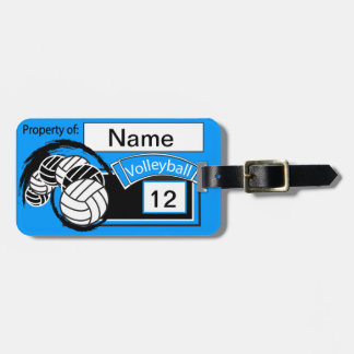 Sporty Volleyball | DIY Background Color Luggage Tag