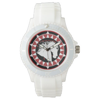 Sporty White Stallion Watch
