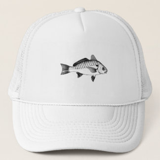 Spot Fish (line art) Trucker Hat