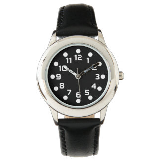 Spot Markers - White on Black Watches