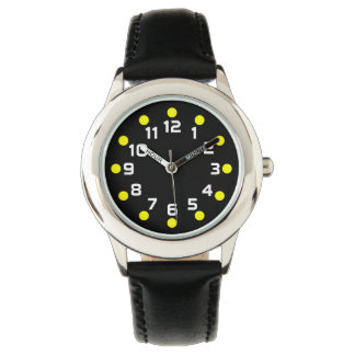 Spot Markers - Yellow and White on Black Wrist Watch
