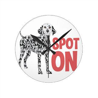 Spot On Round Clock