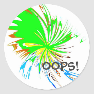 spot oops classic round sticker