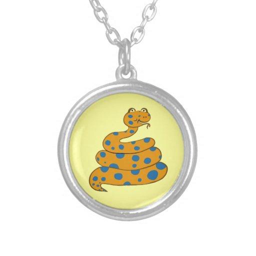 Spot the Snake Necklace (Blue Spots)