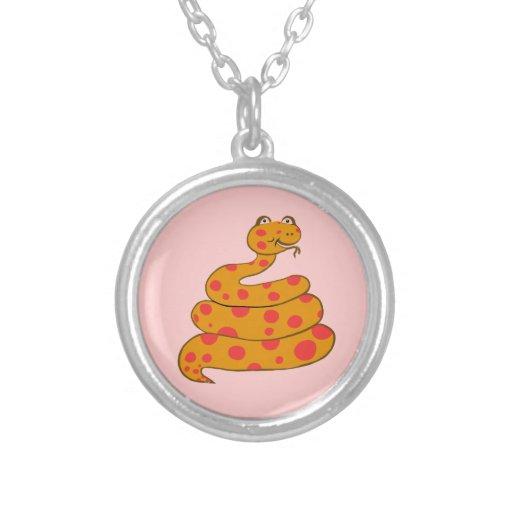 Spot the Snake Necklace (Pink Spots)