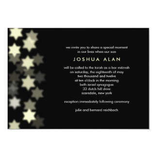 Spotlight Star of David Bar/Bat Mitzvah Invitation