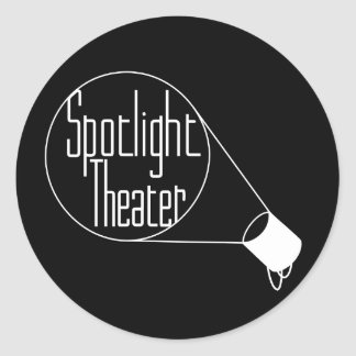 Spotlight Theater Classic Round Sticker