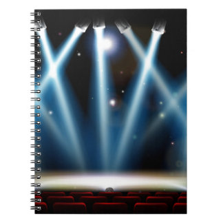 Spotlights Theater Stage Note Books