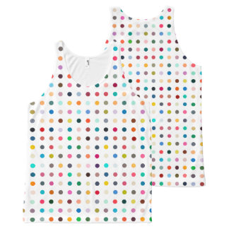 """SPOTS OF MANY COLORS"" All-Over PRINT SINGLET"