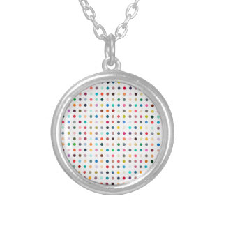 """""""SPOTS OF MANY COLORS"""" ROUND PENDANT NECKLACE"""