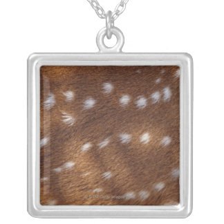 Spots on an animal square pendant necklace