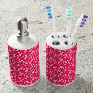 spots soap dispenser and toothbrush holder