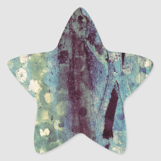 Spotted Abstract Star Sticker