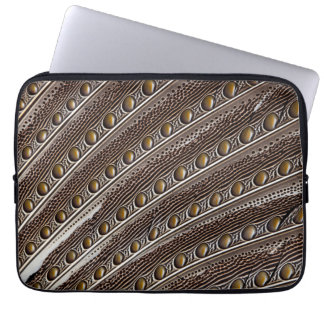 Spotted Argus pheasant feather Laptop Sleeve
