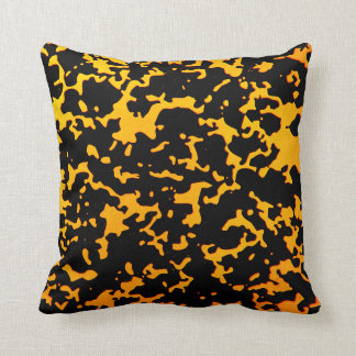 Spotted Black And Yellow Cushion