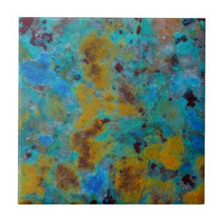 Spotted Blue Chrysocolla Jasper Ceramic Tile
