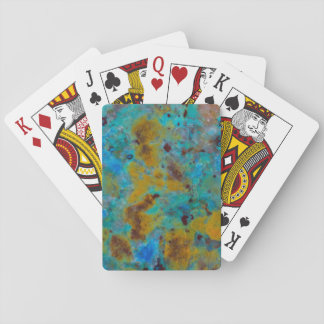 Spotted Blue Chrysocolla Jasper Playing Cards