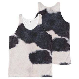 SPOTTED COW HIDE All-Over PRINT TANK TOP