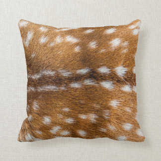 Spotted deer fur texture cushion