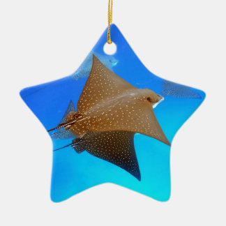 Spotted eagle rays underwater Galapagos Ceramic Ornament
