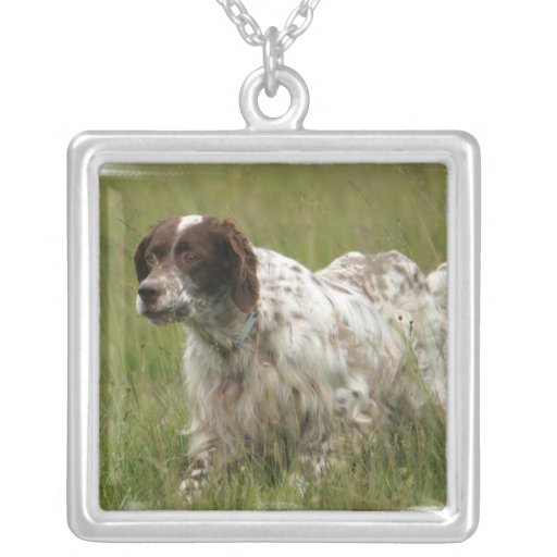 Spotted English Setter Dog Necklace