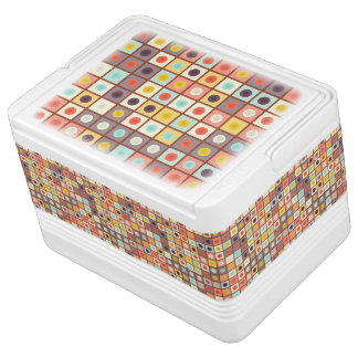 Spotted geometric pattern cooler