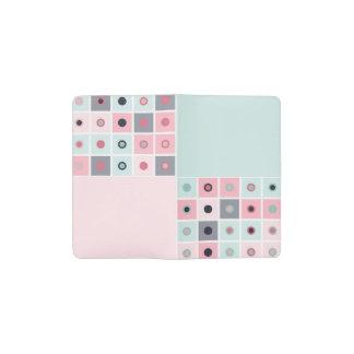 Spotted geometric pattern pocket moleskine notebook