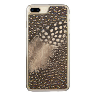 Spotted Guinea fowl feather Carved iPhone 7 Plus Case