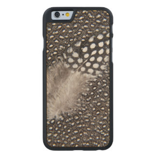 Spotted Guinea fowl feather Carved® Maple iPhone 6 Case