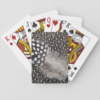 Spotted Guinea fowl feather Playing Cards