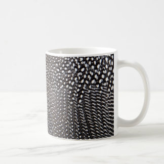 Spotted Guineafowl Feather Abstract Coffee Mug