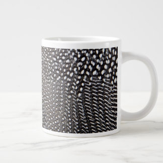 Spotted Guineafowl Feather Abstract Large Coffee Mug