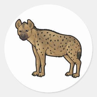 Spotted Hyena Classic Round Sticker