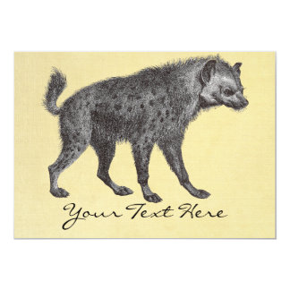 Spotted Hyena Invitation