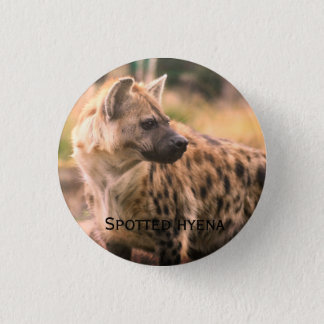 Spotted hyena: Savannah sunset 3 Cm Round Badge