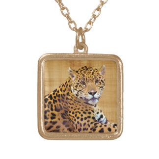 Spotted Jaguar Big Cat-lover #Gift Square Pendant Necklace